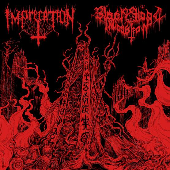 IMPRECATION / BLACK BLOOD INVOCATION Diabolical Flames of the Ascended Plague